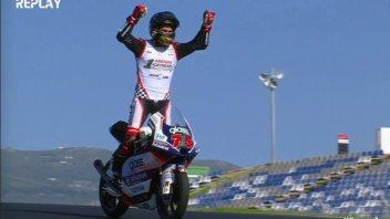 Moto3: Portimao: Fernandez stravince ma Arenas è campione, cuore Arbolino 5°