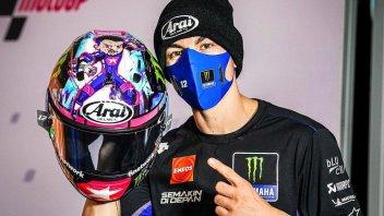 MotoGP: Un casco da supereroe per Maverick Vinales a Valencia