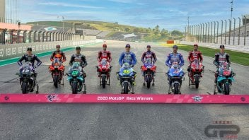 MotoGP: The magnificent 9 of 2020: group photo for the winners
