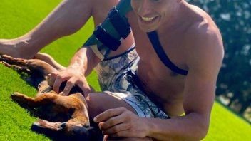 MotoGP: The rest of the warrior: Marc Marquez in armor with his dogs