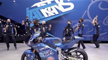 Moto2: VIDEO - Italtrans e Bastianini festeggiano sulla pista... da ballo