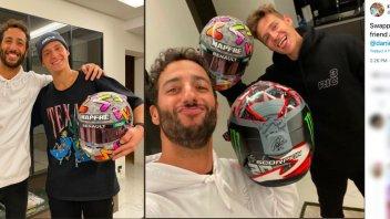 MotoGP: Quartararo e Ricciardo: scambio di caschi tra fuori di testa di F1 e MotoGP