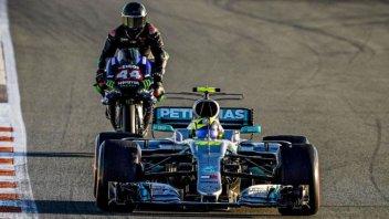 MotoGP: Rossi-Hamilton, tutti i retroscena della giornata F1-MotoGP a Valencia