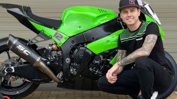 SBK: BSB, Luke Mossey with DB Racing Kawasaki Team in 2021