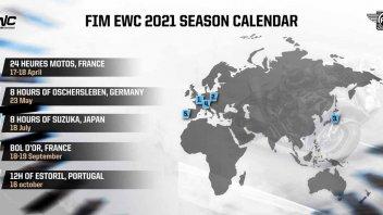SBK: Cinque gare nel Calendario FIM EWC 2021: inizio stagione a Le Mans