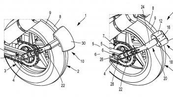 Moto - News: Michelin inserisce un dispositivo per la 'retromarcia' assistita nel parafango
