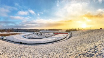 MotoGP: THE PHOTO - The Brno racetrack turns into a ski slope