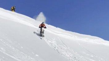 SBK: Tito Rabat da sballo con la moto sulle nevi d'Andorra