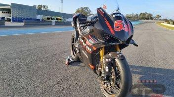 SBK: Jerez: ecco la Ducati V4 del team Barni per Rabat con sospensioni Ohlins