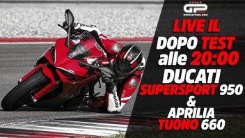 Moto - News: LIVE - Dopo test alle 20:00 - Ducati Supersport 950 e Aprilia Tuono 660