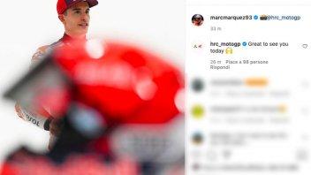 MotoGP: Marc Marquez: prove generali di rientro, shooting in HRC per il 2021