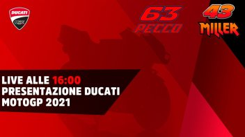 MotoGP: LIVE - at 16:00 Ducati unveils the GP21 of Bagnaia and Miller