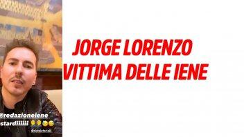 "MotoGP: Jorge Lorenzo victim of the Iene show: ""These bastards played a joke on me"""