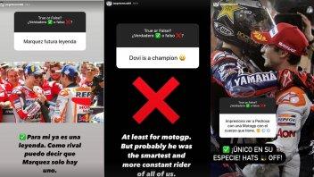 """MotoGP: Lorenzo: """"Marquez una leggenda, Dovizioso non un campione ma il più intelligente"""""""