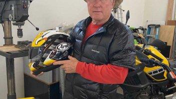MotoGP: L'aquila di Kenny Roberts torna a volare sui caschi Arai