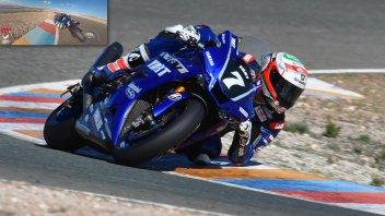 SBK: Canepa prima dell'incidente: un video da urlo ad Almeria con la Yamaha R1
