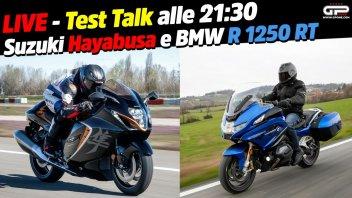 Moto - News: LIVE - Test Talk alle 21:30 - Le nuove Suzuki Hayabusa e BMW R1250 RT