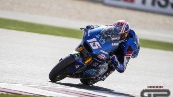Moto2: GP Qatar - Warm Up: Lowes cade, Roberts e Bezzecchi ne approfittano