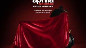 MotoGP: Aprilia unveiling: tomorrow at 2.30 pm the RS-GP of Espargarò and Savadori