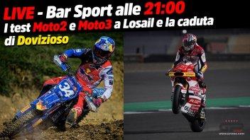 MotoGP: LIVE - Bar Sport alle 21:00 - La caduta di Dovizioso e i test Moto2 e Moto3