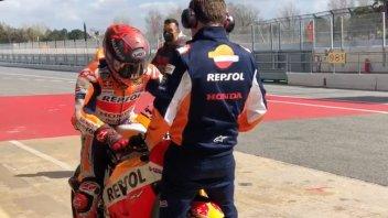 MotoGP: VIDEO - Marc Marquez back in action on the RC213V-S in Barcelona