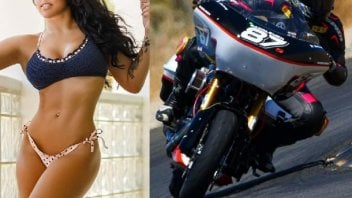 Moto - News: Patricia Fernandez, the world's fastest woman on a street circuit, gets to grips with the Baggers