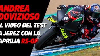 MotoGP: VIDEO - Andrea Dovizioso spreme l'Aprilia RS-GP 2021 a Jerez