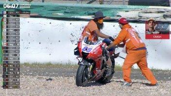 MotoGP: VIDEO - le immagini della terribile caduta di Jorge Martìn a Portimao