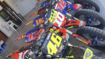 MotoGP: Foto di famiglia al Ranch, ecco tutte le moto della VR46