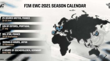 SBK: Revised FIM EWC Calendar: first race The 24 Heures Motos at Le Mans