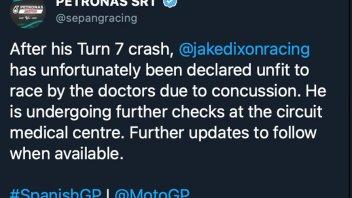 Moto2: Jake Dixon non correrà la gara a Jerez: dichiarato 'unfit'