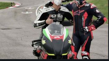 MotoGP: Dovizioso, 'uomo-Aprilia', si allena con Savadori a GallianoPark con la RS250 SP