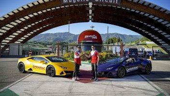 MotoGP: Pirro-Zarco: arrivo in grande stile al Mugello in Lamborghini
