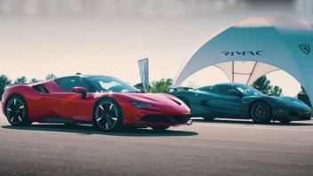 Auto - News: VIDEO Ferrari SF90 VS Rimac Nevera, sfida record!: 0-100 in 1,85 secondi!