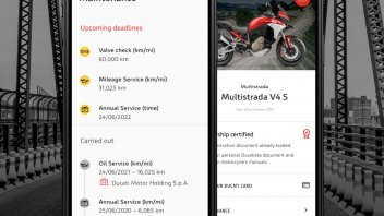 Moto - News: MyDucati App si evolve con l'introduzione della sezione manutenzione