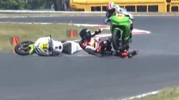 MotoAmerica: What a risk in MotoAmerica! Max Toth run over like Shoya Tomizawa
