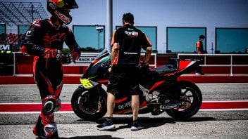 MotoGP: Aprilia e Dovizioso: la gallery del primo giorno di test a Misano