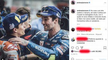 """MotoGP: Iannone, homage to Marquez: """"Marc I know what it means to fall and get up again"""""""