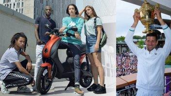 Moto - Scooter: Novak Djokovic: via da Wimbledon con la coppa e lo scooter elettrico