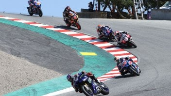 MotoAmerica: Gagne Wins Again – Barely - In HONOS Superbike Race One At Laguna Seca