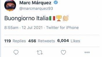 MotoGP: Marquez tweets 'Buongiorno Italia' to celebrate European Championship victory