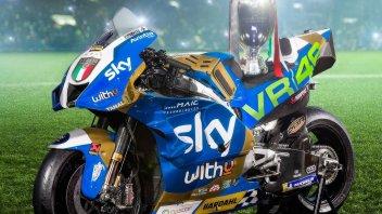 MotoGP: Sky e VR46 celebrano la vittoria della Nazionale a Wembley