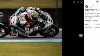 SBK: Chaz Davies da Endurance con la Ducati: 20 giri e gomme spremute al limite