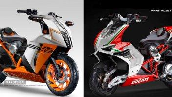Moto - Scooter: KTM SC8 390 e Panitaljet V4R, gli scooter sportivi che tutti vorremmo