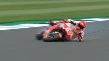 MotoGP: Silverstone: Marc Marquez vola a 270 Km/h, il video della caduta