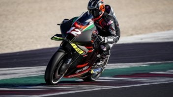 MotoGP: First photos of Maverick Vinales in action on the Aprilia at Misano