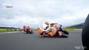 MotoGP: Marquez-Martin: il video dell'incidente a Silverstone