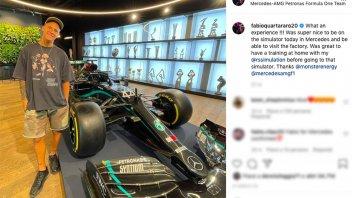 "MotoGP: Quartararo like Rossi in the Mercedes F1 simulator: ""Incredible experience"""