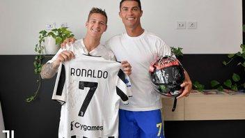 MotoGP: Quartararo e Ronaldo: scambio di regali tra fenomeni