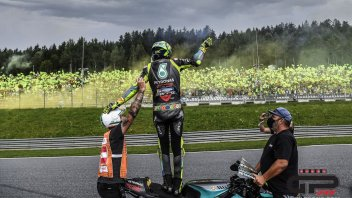 """MotoGP: Rossi: """"I wasn't challenging myself by staying on the track with the slicks"""""""